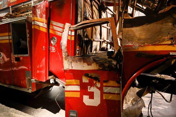 Carcasse de camion de pompiers au 09/11 Memorial (Jean-Claude Desjacques)