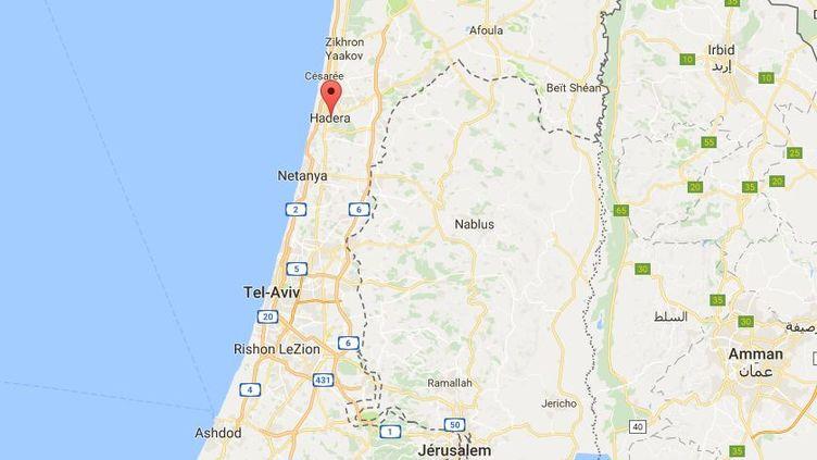 Les policiers israéliens ont découvert un adolescent, jeudi 11 mai, claquemuré dans un appartement de Hadera (Israël). (GOOGLE MAPS)