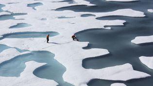 L'océan Arctique, photographié par la Nasa le 12 juillet 2011. (NASA / REUTERS)