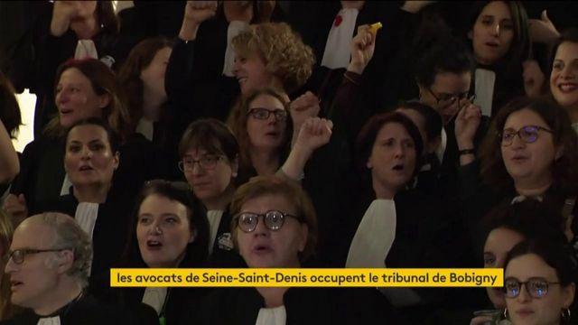 Réforme des retraites : les avocats de Seine-Saint-Denis occupent le tribunal de Bobigny