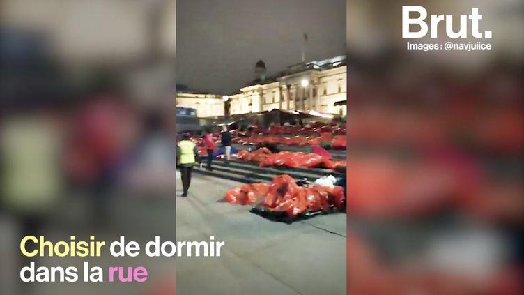 VIDEO. À travers le monde, ils dorment dans la rue en solidarité avec les sans-abri (BRUT)