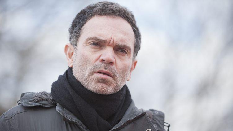 Yann Moix, écrivain et réalisateur, le 6 mars 2018 à Calais (Pas-de-Calais). (MAXPPP)