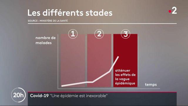 """Covid-19 : pour Emmanuel Macron, l'épidémie est """"inexorable"""""""