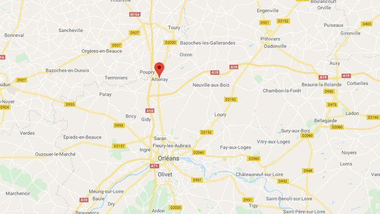 Un contrôleur a demandé l'arrêt du train TER à la gare d'Artenay (Loiret), en application du plan vigipirate. (GOOGLE MAPS)