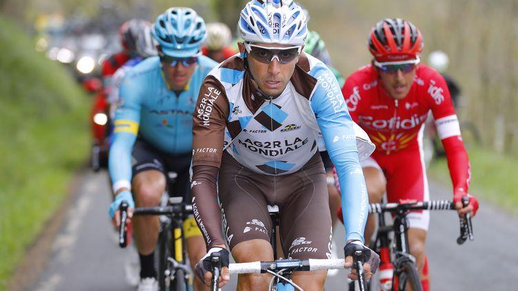 Matteo Montaguti durant la 3e étape du Tour des Alpes. (DE WAELE TIM / TDWSPORT SARL)