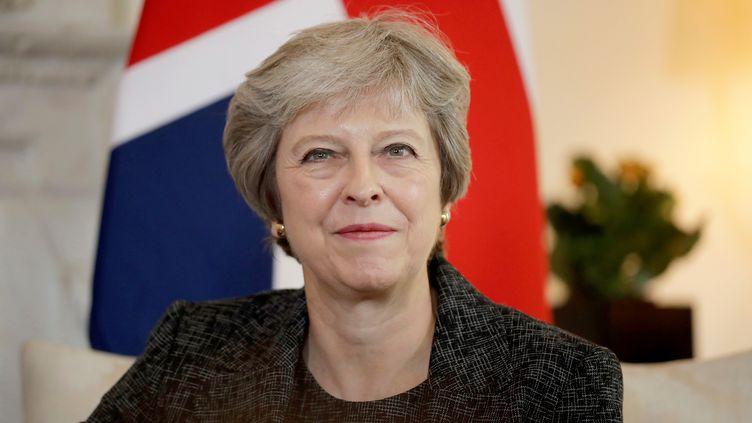 La Première ministre britannique, Theresa May, le 24 juillet 2018 à Londres (Royaume-Uni). (MATT DUNHAM / POOL / AFP)