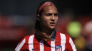 Des joueuses vénézuéliennes, dont la star du foot féminin Deyna Castellanos, ont dénoncé les abuses sexuels perpétrés par leur ancien entraîneur, Kenneth Szeremeta, le 6 octobre 2021. (JOSE BRETON / NURPHOTO)