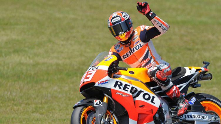 Marc Marquez en pole au GP de France (JEAN-FRANCOIS MONIER / AFP)