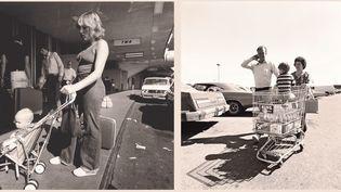 """Robert Adams, Sans titre, """"Our Lives and Our Children"""", 1979-1982  (A gauche et à droite : © Robert Adams / Collection Centre national des arts plastiques / Photo : Yves Bresson. MAM SaintÉtienne Métropole, courtesy Fraenkel Gallery, San Francisco and Matthew Marks Gallery, New York)"""