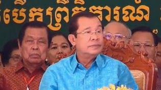 Au pouvoir depuis trente-trois ans déjà, Hun Sen, le Premier ministre du Cambodge devrait sans doute une nouvelle fois remporter les élections du 29 juillet prochain. (FRANCE 2)