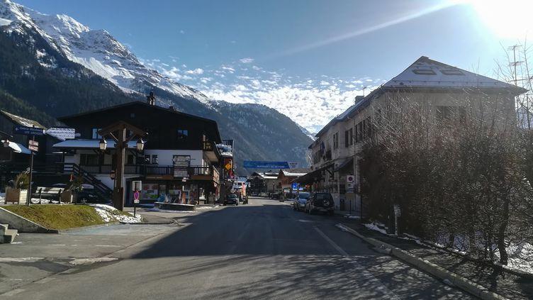 La commune de Contamines-Montjoie (Haute-Savoie), le 8 février 2020, où ont séjourné les cinqBritanniques infectés par le coronavirus. (MARIE GIFFARD / AFP)