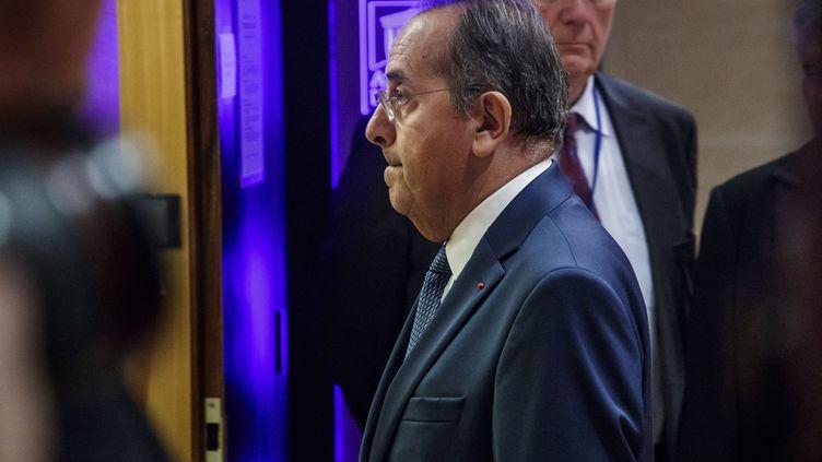 Michel Delpuech, alors préfet de police de Paris, le 23 juillet 2018 lors d'une conférence de presse. (MAXPPP)