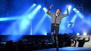 Stromae en concert aux Vieilles Charrues, àCarhaix dans le Finistère,le 18 décembre 2014. (JÉRÔME FOUQUET / MAXPPP)
