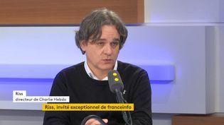 """Riss, directeur de la rédaction de """"Charlie Hebdo"""", invité de franceinfo le1er novembre2019. (FRANCEINFO / RADIOFRANCE)"""