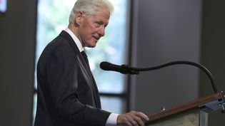 Bill Clinton s'exprime pendant les obsèquesdu député John Lewis,le 30 juillet 2020, à Atlanta (Géorgie,Etats-Unis). (AFP)