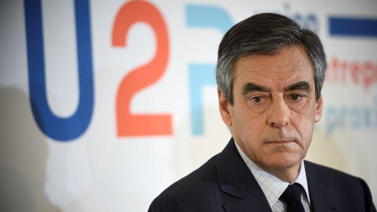 François Fillon à Paris, le 16 mars 2017 (ERIC FEFERBERG / AFP)