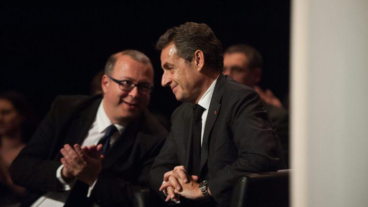 Damien Meslot avec Nicolas Sarkozy en mars 2015 (MAXPPP)