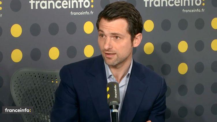 Le vice-président et porte-parole du Medef Fabrice Le Saché, sur franceinfo. (FRANCEINFO)