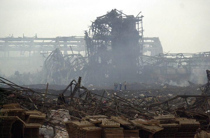 Il y a 13 ans, le 21 septembre 2001,à Toulouse, l'usine chimique d'AZF était détruite par l'explosion d'un stock de nitrate d'ammoniom. (PATRICK GARDIN / MAXPPP)