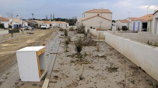 Les dégâts de la tempête Xynthia, à La Faute-sur-Mer (Vendée),en juin 2010. (ALAIN LE BOT / PHOTONONSTOP / AFP)