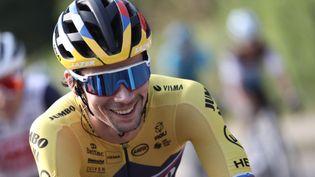 Le Slovène Primoz Roglic, le 20 septembre 2020 lors de la dernière étape du Tour de France. (KENZO TRIBOUILLARD / AFP)