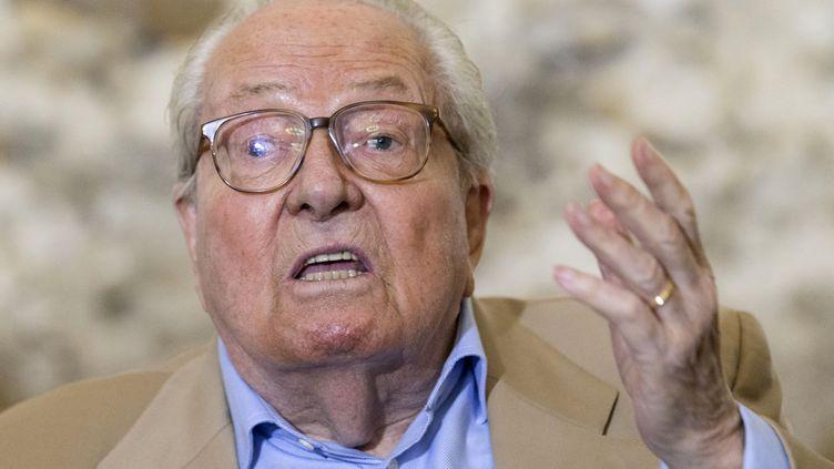 Jean-Marie Le Pen, exclu du Front national. (GEOFFROY VAN DER HASSELT / AFP)