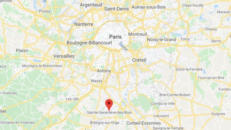 La commune deSaint-Geneviève-des-Bois dans l'Essonne. (GOOGLE MAPS / FRANCETV INFO)