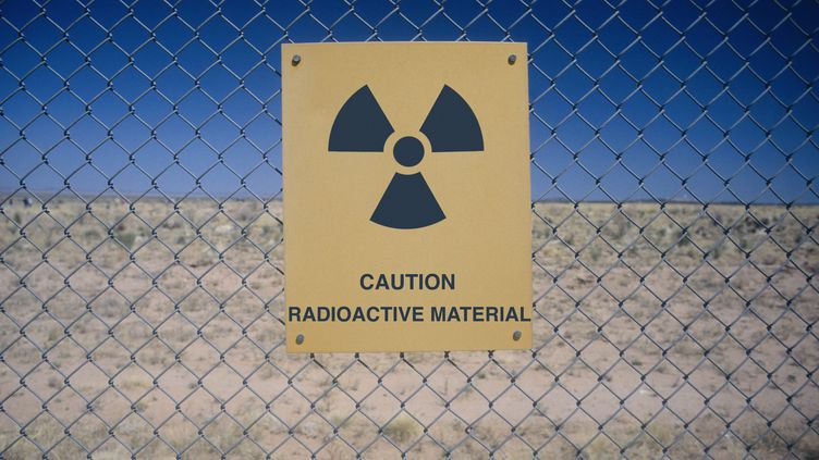 Avertissement de produits radioactifs au Nevada, aux États-Unis. Image d'illustration. (MAXPPP)