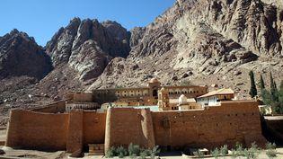 Vue générale dumonastère de Sainte Catherine sur le Mont Sinaï, en Egypte, le 30 septembre 2016. (MAXPPP)