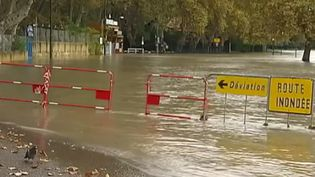 Inondation dans un camping (CAPTURE D'ÉCRAN FRANCE 2)