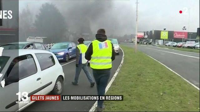 """""""Gilets jaunes"""" : les mobilisations en régions"""