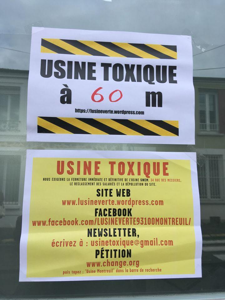 """A Montreuil, des riverains et des parents d'élèves sont mobilisés contre une usine qu'ils considèrent comme """"toxique"""". (Farida Nouar / FRANCEINFO)"""