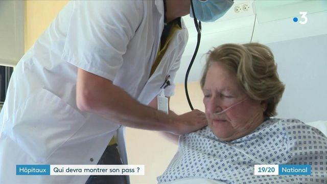 Covid-19 : un pass sanitaire nécessaire pour les malades et visiteurs à l'hôpital