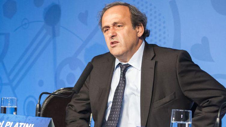 Le président de l'UEFA, Michel Platini
