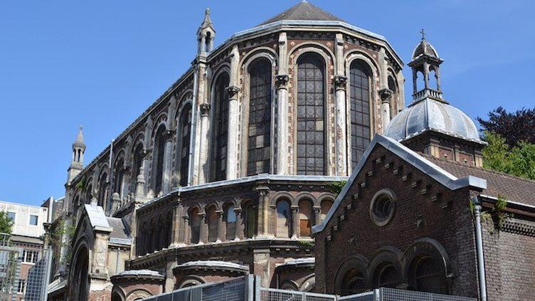 La chapelle Saint-Joseph - datant du XIXe siècle, cet édifice de Lille (59) est voué à être démoli. (ANNE-SOPHIE HOURDEAUX / LA CROIX DU NORD)