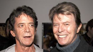 Lou Reed et David Bowie dans une galerie new yorkaise en 2006.  (Andrew H. Walker / Getty Images North America / AFP)