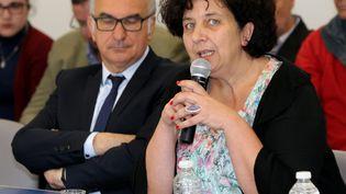 Frédérique Vidal, le 4 mai 2017, à Carros (Alpes-Maritimes). (MAXPPP)