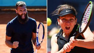 Simona Halep et Benoît Paire ont connu des fortunes diverses à Madrid ce mardi 4 avril 2021. (AFP)
