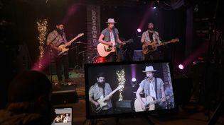 Anthony Olympia et Brent Rupart du groupe Everette joue en live streaming, le 28 septembre 2020 à Nashville (Etats-Unis). (DANIELLE DEL VALLE / GETTY IMAGES NORTH AMERICA)