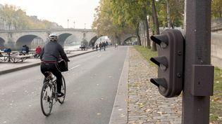 La voie Georges Pompidou à Paris, le 26 octobre 2017. (MAXPPP)