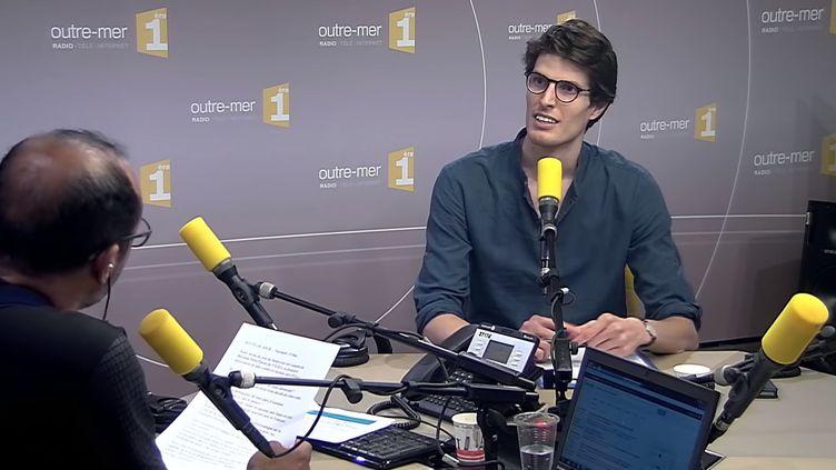 Laurent de Béchade,cofondateur del'Organisation de lutte contre le racisme anti-blancs, le 7 juin 2018 sur Outre-mer 1ère. (1ERE OUTRE-MER / YOUTUBE)