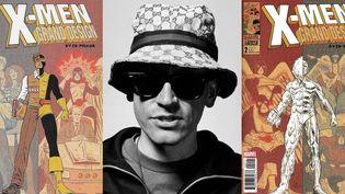 """Les numéros 1 et 2 de """"X-Men Grand Design"""" par Ed Piskor, au centre, édités chez Marvel.  (Ed Piskor / Marvel)"""