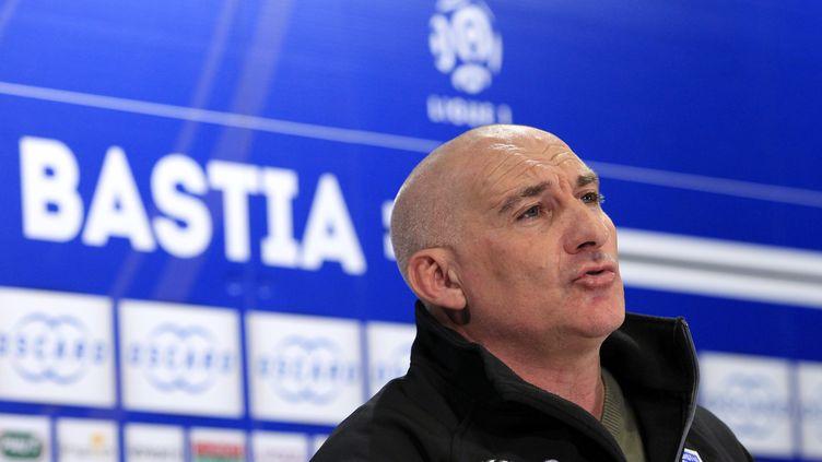L'entraîneur de Bastia François Ciccolini (PASCAL POCHARD-CASABIANCA / AFP)