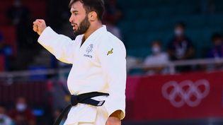 Luka Mkheidzea remporté la médaille de bronze en judo, le samedi 24 juillet (FRANCK FIFE / AFP)
