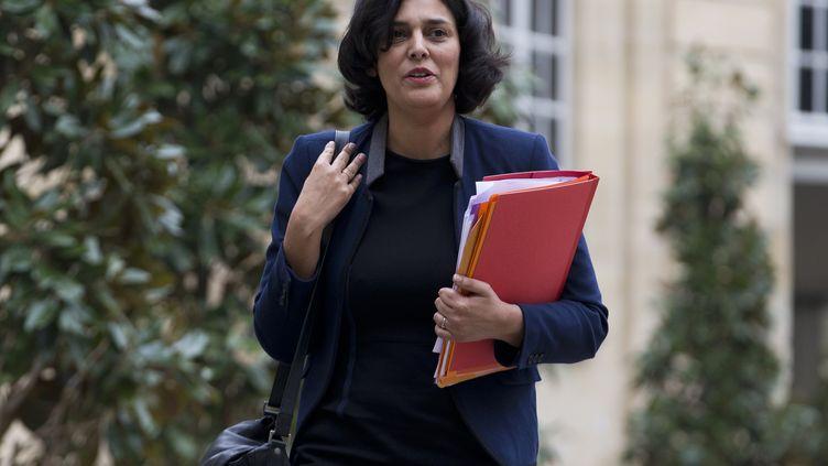 La ministre du Travail,Myriam El Khomri, arrive à Matignon, le 18 février 2016. (KENZO TRIBOUILLARD / AFP)