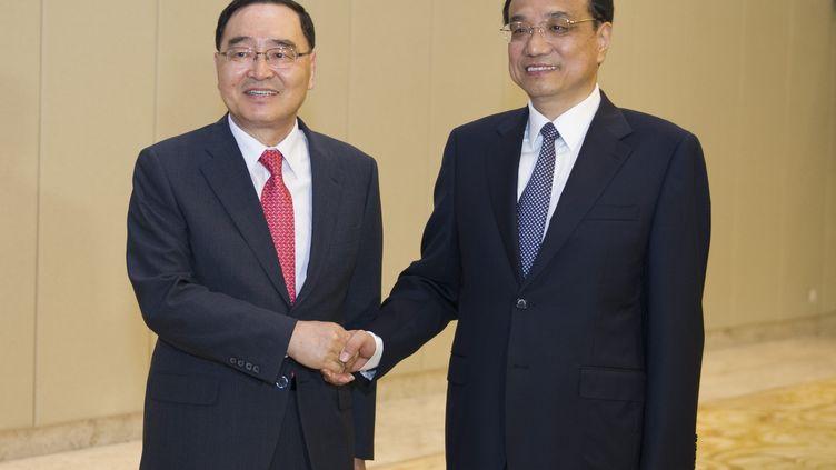 Le Premier ministreChung Hong-Won, le 10 avril 2014, en Chine. (XIE HUANCHI / XINHUA)