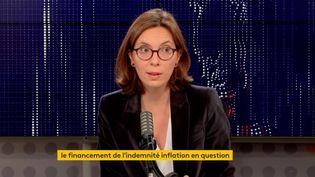 Amélie de Montchalin, ministre de la Transformation et de la Fonction publiques, invitée du 8h30 de franceinfo de samedi 23 octobre 2021. (FRANCEINFO / RADIOFRANCE)