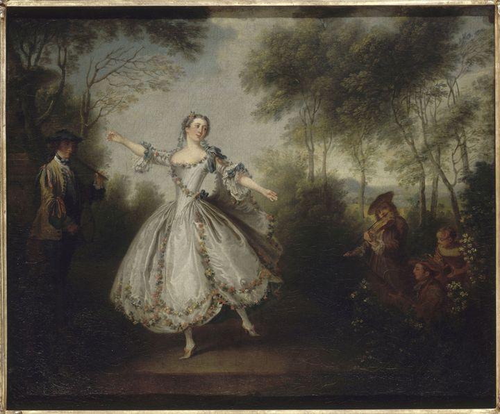 La Camargo dansant - Nicolas Lancret Vers 1730-1731  (RMN-Grand Palais / Gérard Blot)