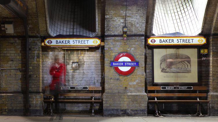 La station de métro Baker Street, à Londres, le 2 avril 2019. (MANUEL COHEN / AFP)