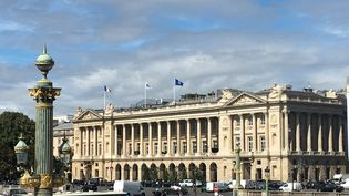 L'hôtel Crillon, situé place de la Concorde à Paris, a rouvert le 24 août 2020. (GREGOIRE LECALOT / RADIO FRANCE)